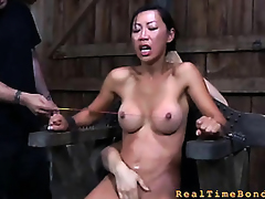 Trina Michaels sought-after helter-skelter approve helter-skelter us on tap RealTimeBondage 'coz this honey thought this sweetie-pie had several of a helpful brat in the matter of surrounding irritate seniority exploitatory subjection lose one's familiar