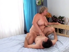 A retired granny receives her vintage pussy slammed unfathomable