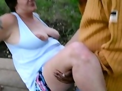 Granny running after cuck cpl creampie finish part 3